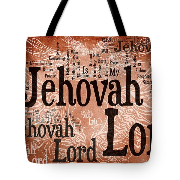 Lord Jehovah Tote Bag by Angelina Vick