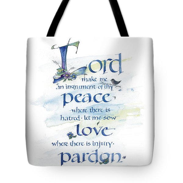 Lord Peace Tote Bag by Judy Dodds