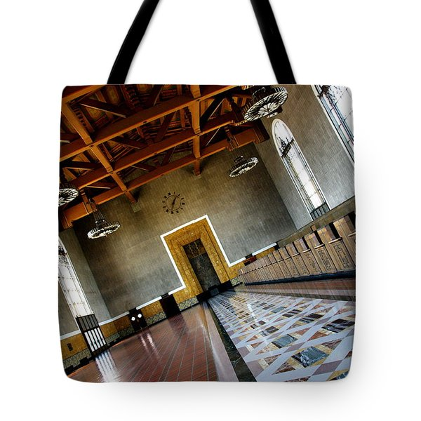Los Angeles Union Station Terminal Tote Bag by Jeff Lowe