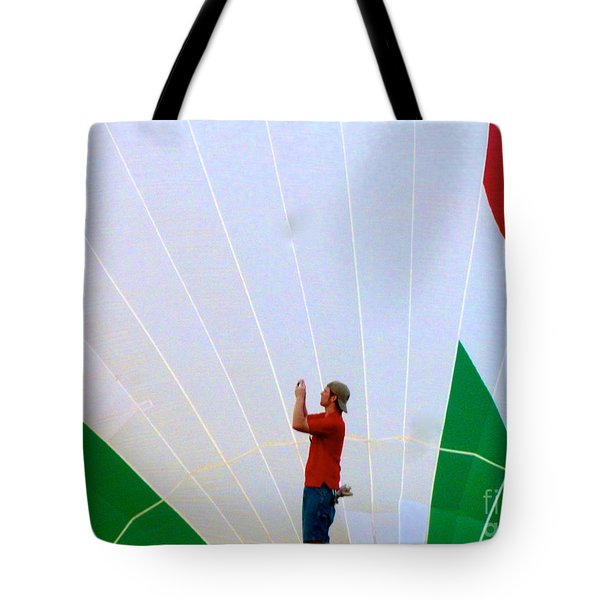 Lost Infront Of The Balloon Tote Bag by Mark Dodd
