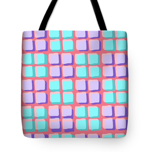 Lots Of Squares Tote Bag by Louisa Knight