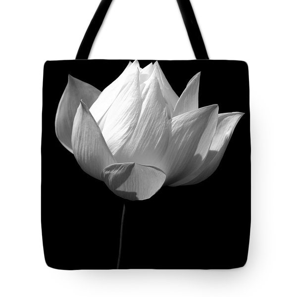 Lotus Bw Tote Bag