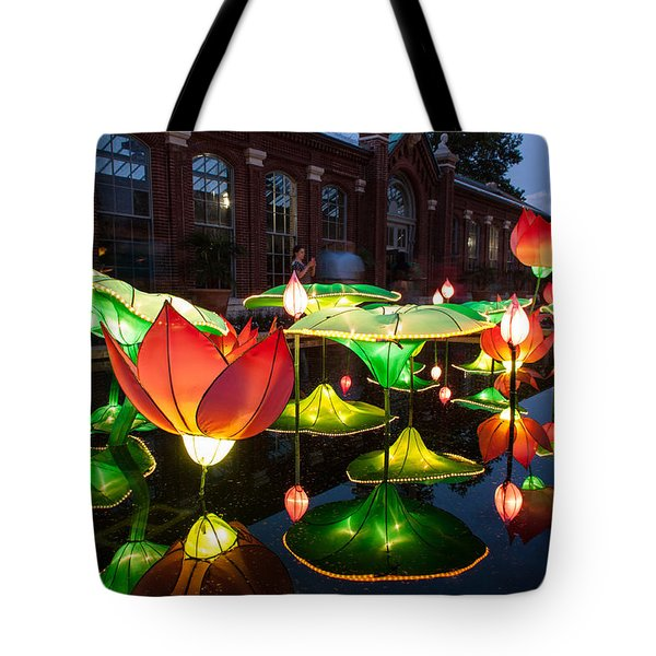 Lotus Flower Tote Bag by Semmick Photo
