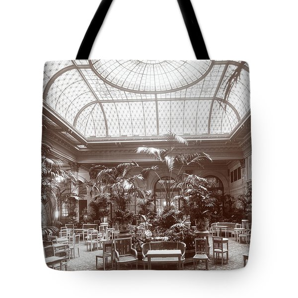 Lounge At The Plaza Hotel Tote Bag by Henry Janeway Hardenbergh