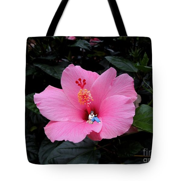 Lounging In A Hibiscus Tote Bag by Renee Trenholm