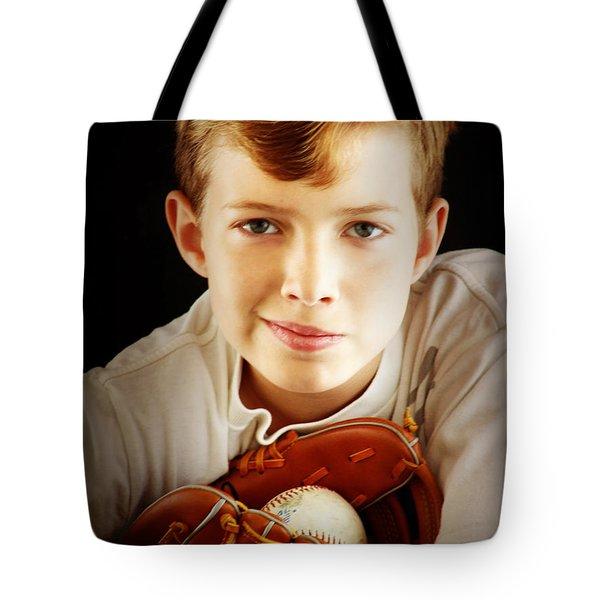 Love Baseball Tote Bag by Lj Lambert