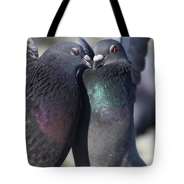 Tote Bag featuring the photograph Love Birds by Cathie Douglas