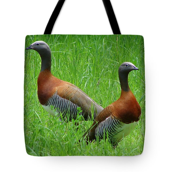 Tote Bag featuring the photograph Love Birds by Ramona Johnston