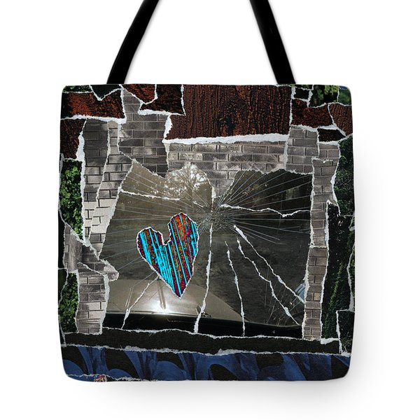 Love Hitting A Shattered Life Tote Bag