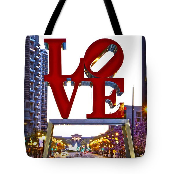 Tote Bag featuring the photograph Love In Philadelphia by Alice Gipson