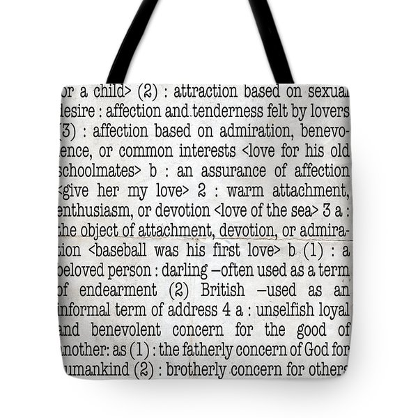 Love Tote Bag by Monday Beam