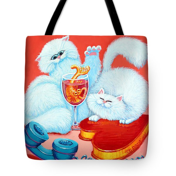 Love Puffs Tote Bag by Baron Dixon