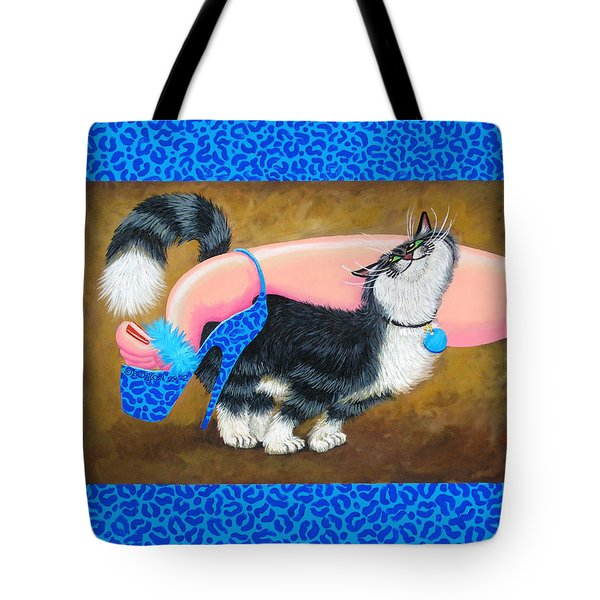 Love Pump Blue Tote Bag by Baron Dixon