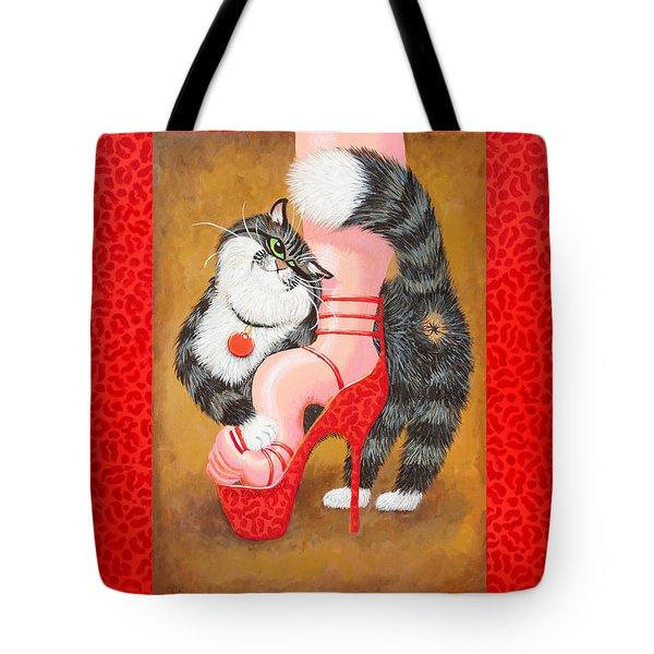 Love Pump Red Tote Bag by Baron Dixon