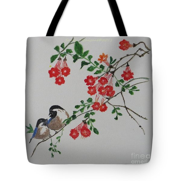 Tote Bag featuring the painting Love by Sonali Gangane