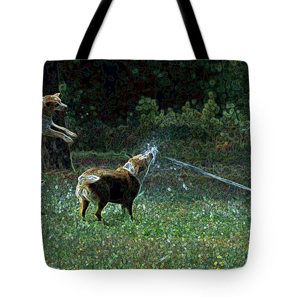 Love To Play Tote Bag by One Rude Dawg Orcutt