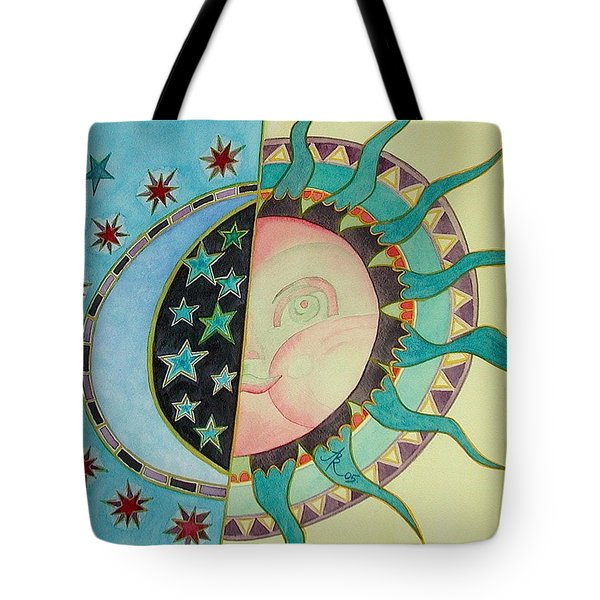 Tote Bag featuring the painting Love You Day And Night by Anna Ruzsan