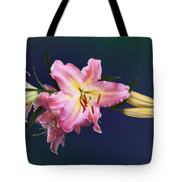 Lovely Pink Lilies Tote Bag by Susan Savad