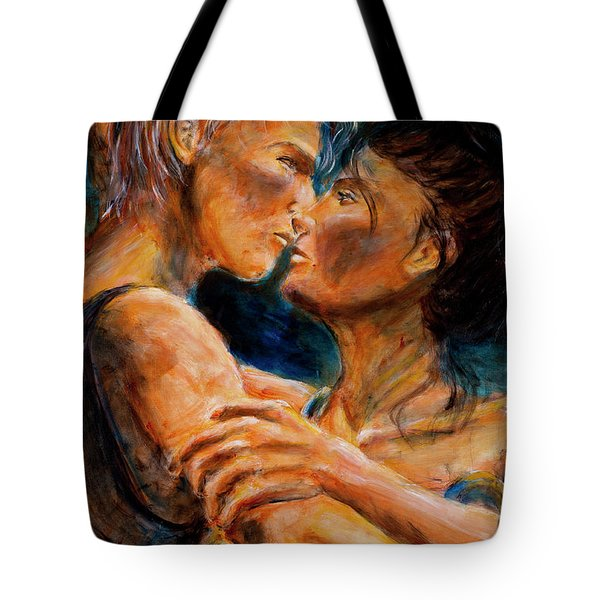 Lovers - Close Up Tote Bag