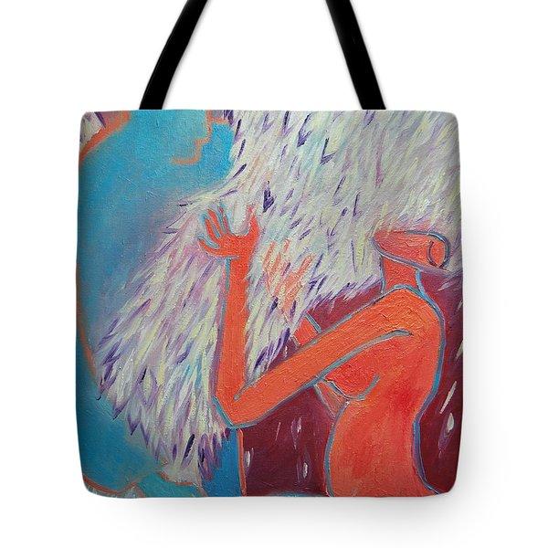 Loving My Angel Tote Bag by Ana Maria Edulescu