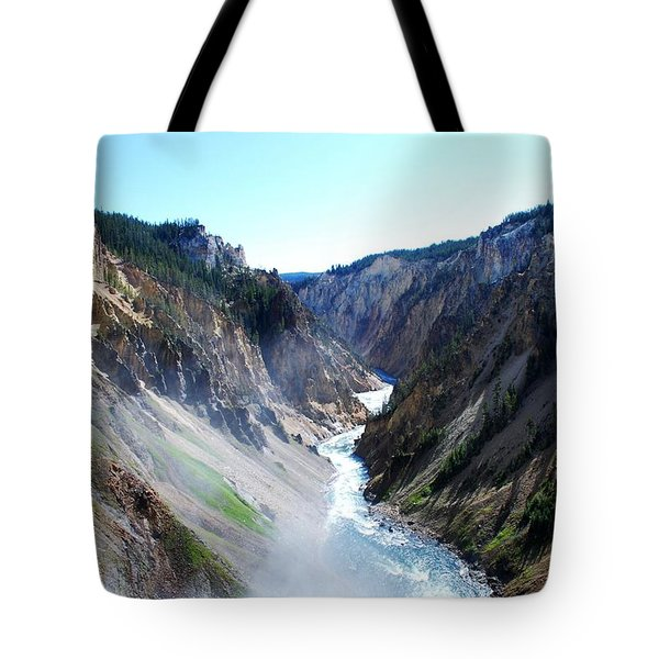 Lower Falls - Yellowstone Tote Bag by Dany Lison