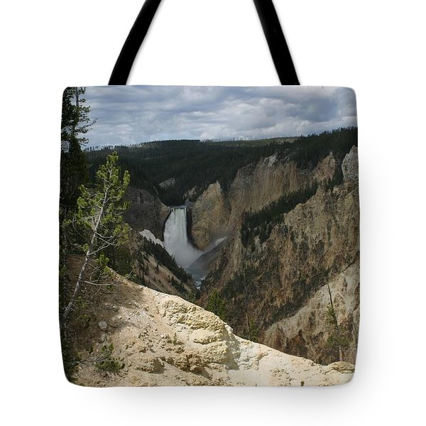Lower Falls Of Yellowstone Tote Bag by Living Color Photography Lorraine Lynch