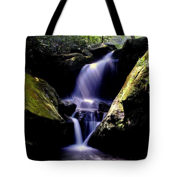 Lower Grotto Falls Tote Bag by Frozen in Time Fine Art Photography