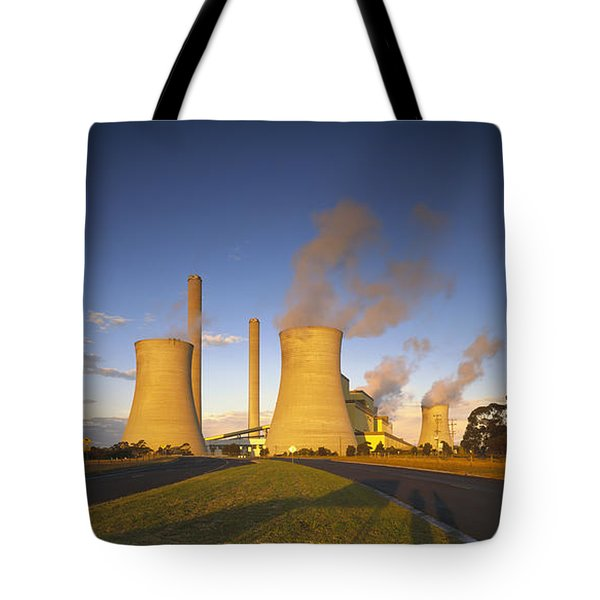 Loy Yang Power Station, Coal Burning Tote Bag by Jean-Marc La Roque