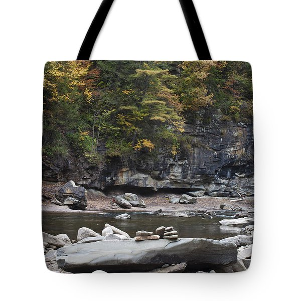 Loyalsock Creek In The Fall Tote Bag