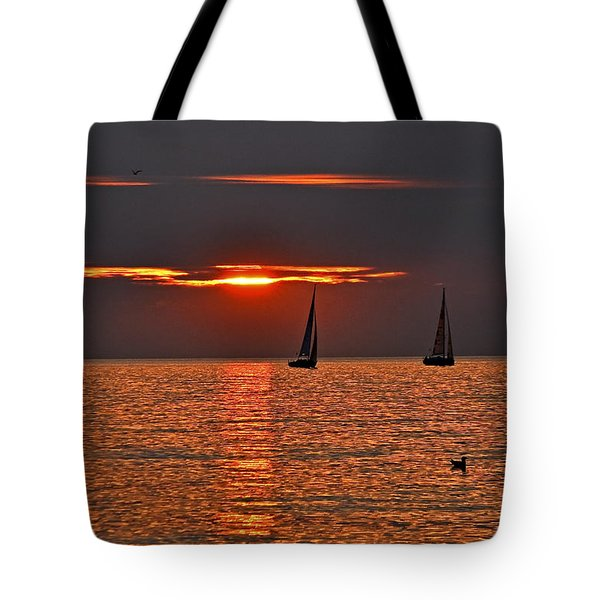 Red Maritime Dream Tote Bag