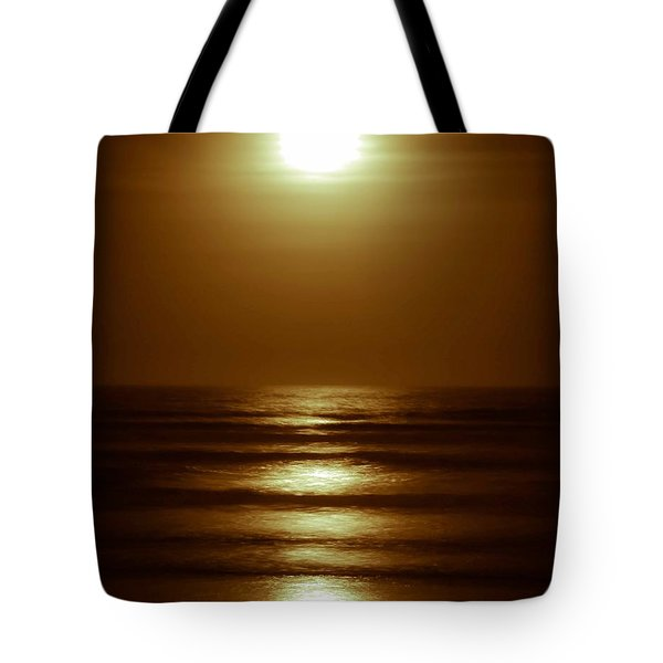 Lunar Tides I Tote Bag by DigiArt Diaries by Vicky B Fuller
