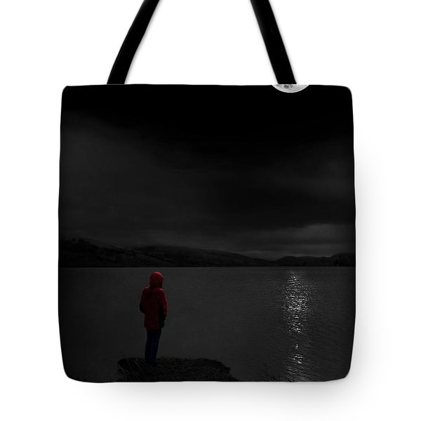 Tote Bag featuring the photograph Lunatic In Red by Meirion Matthias