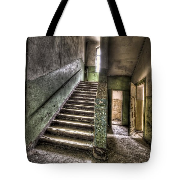 Lunatic Stairs Tote Bag by Nathan Wright