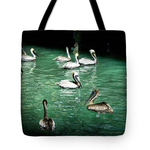 Lunch Crowd Tote Bag by Ellen Heaverlo
