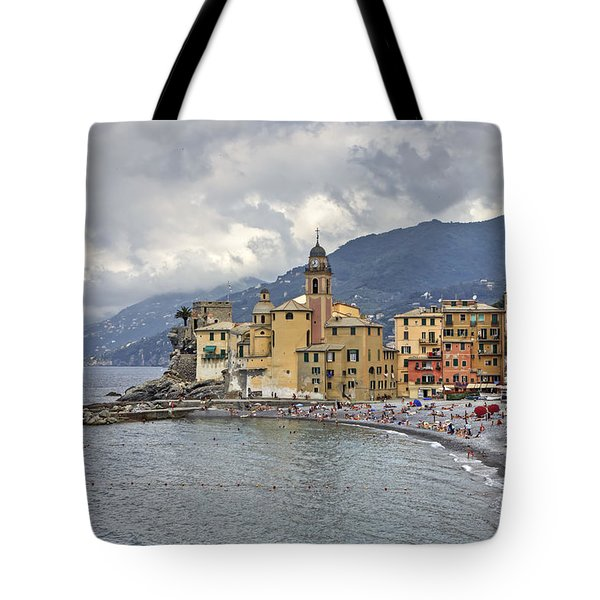 Lungomare In Camogli Tote Bag by Joana Kruse
