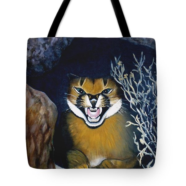 Lynx Tote Bag by Caroline Street