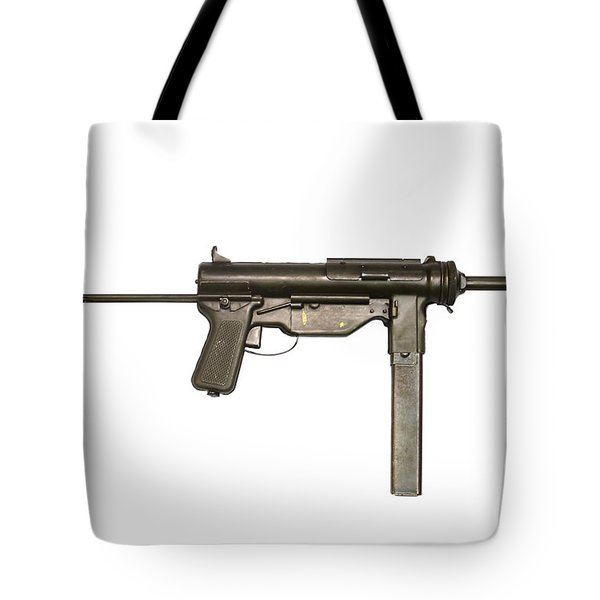 M3a1 Submachine Gun, 45 Caliber Tote Bag by Andrew Chittock