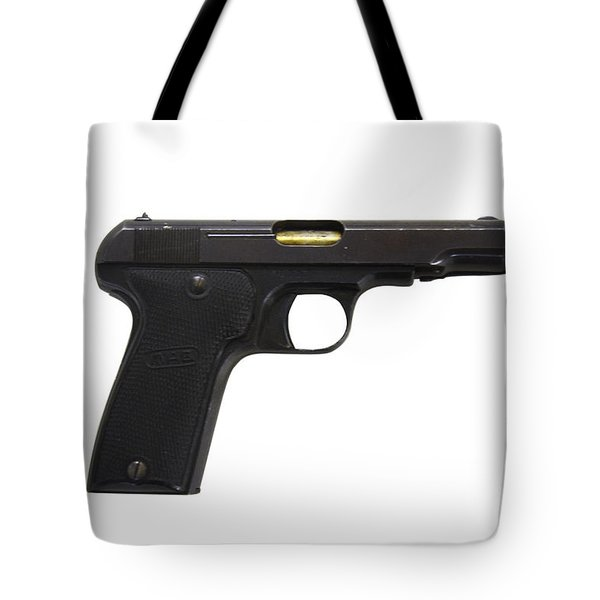 Mab Model D French Police Issue Pistol Tote Bag by Andrew Chittock