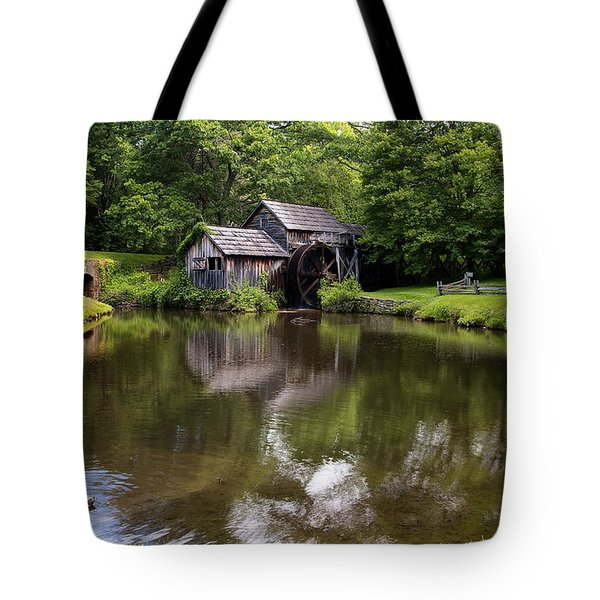 Mabry Mill And Pond Tote Bag