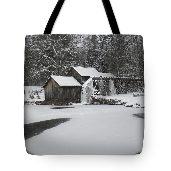 Mabry Mill On Ice Tote Bag