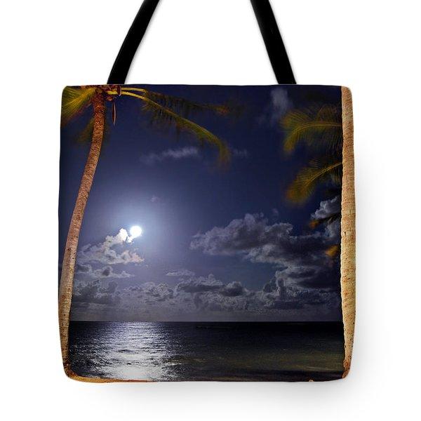 Maceio - Brazil - Ponta Verde Beach Under The Moonlit Tote Bag