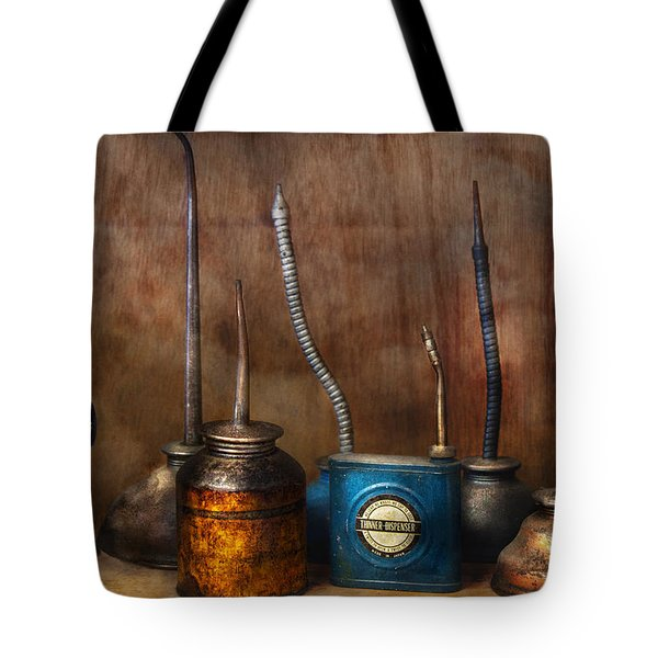 Machinist - Tools - Lubrication Dispensers  Tote Bag by Mike Savad