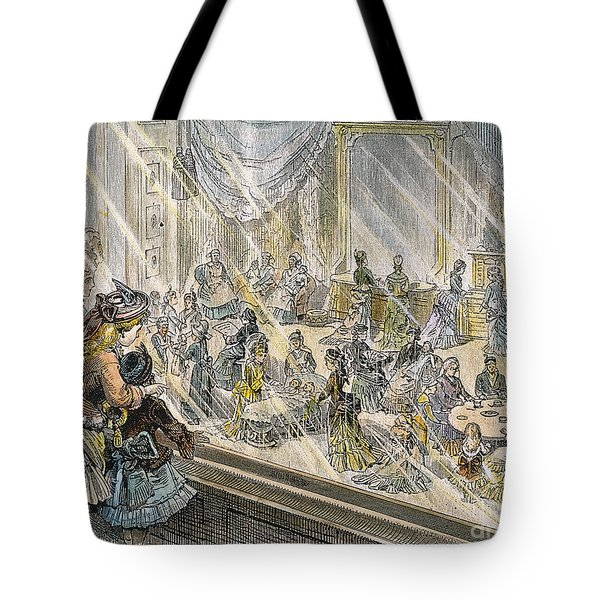 Macys Holiday Display, 1876 Tote Bag by Granger