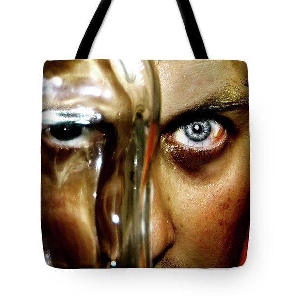 Tote Bag featuring the photograph Mad Man by Pedro Cardona