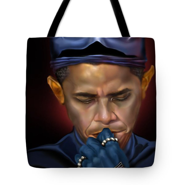 Mad Men Series 1 Of 6 - President Obama The Dark Knight Tote Bag by Reggie Duffie