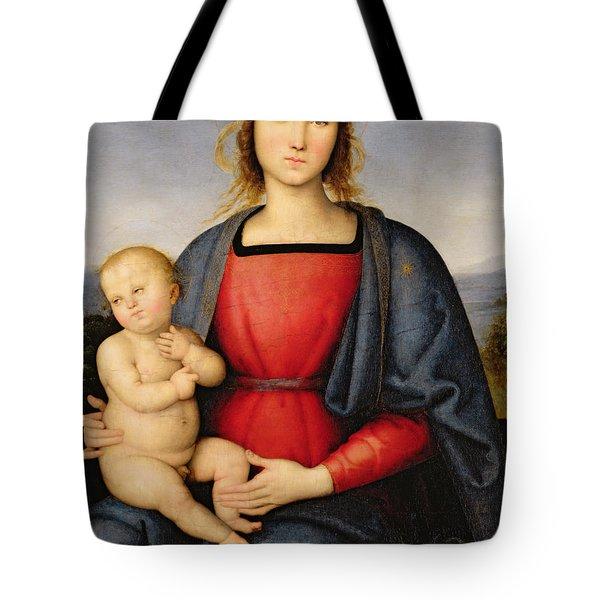 Madonna And Child Tote Bag by Pietro Perugino
