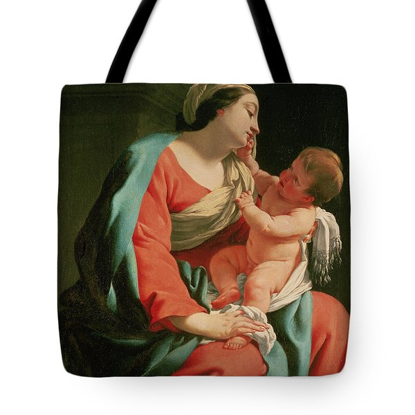 Madonna And Child Tote Bag by Simon Vouet