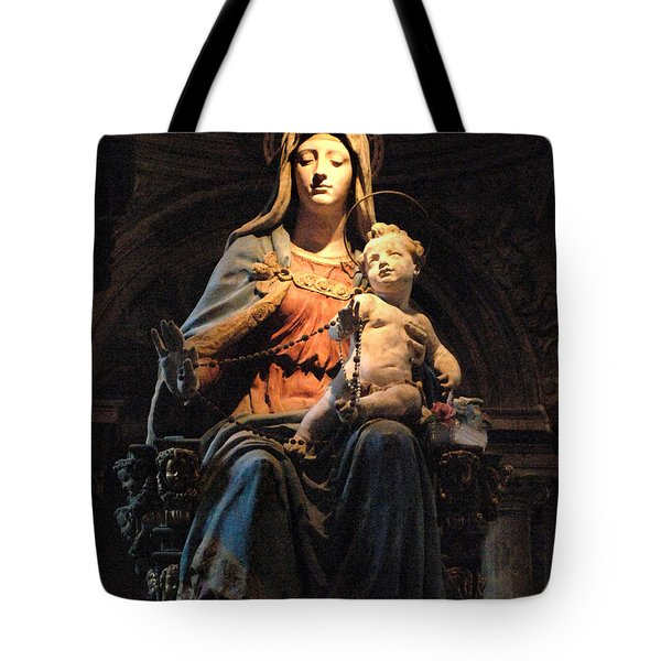 Madonna And Jesus Tote Bag by Bob Christopher