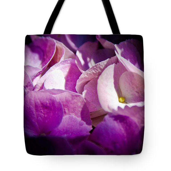 Magenta Floral Tote Bag by David Patterson
