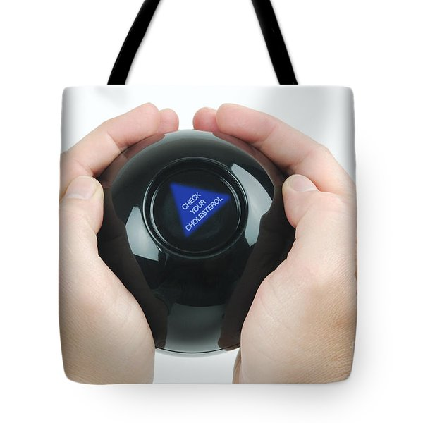 Magic Eight Ball, Check Your Cholesterol Tote Bag by Photo Researchers, Inc.